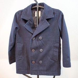 Wool Old Navy Blue Pea Coat Girls Size 8